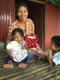 Grateful village mum and toddler